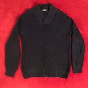 Express V-Neck Sweater (Navy, size Medium)